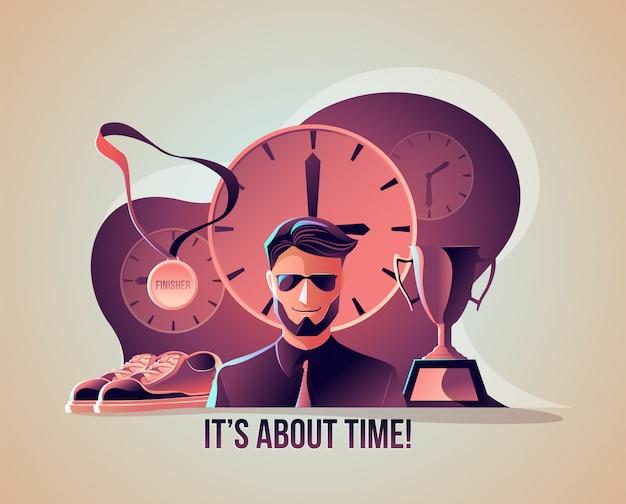 Se trata de la ilustración del tiempo