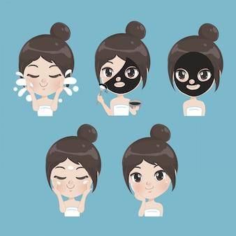 Tratamiento de barro natural para chicas guapas.