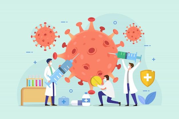 Tratamiento del concepto de diseño de pacientes con coronavirus