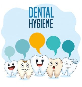Tratamiento de higiene dental con medicina profesional.