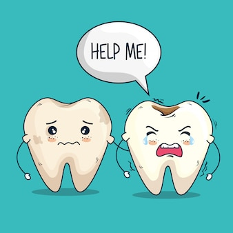Tratamiento de medicina para el cuidado de los dientes vector gratuito