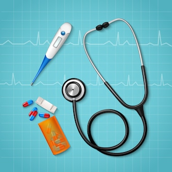 Tratamiento médico herramientas de composición
