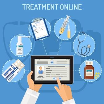Tratamiento online concepto