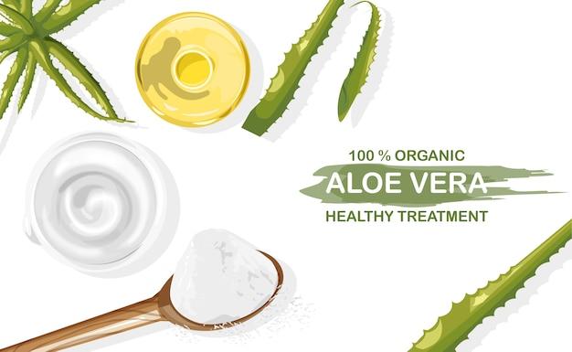Tratamiento orgánico de aloe vera