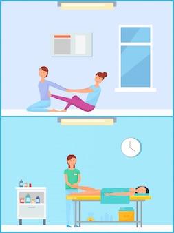 Tratamiento de pies y masaje en salón