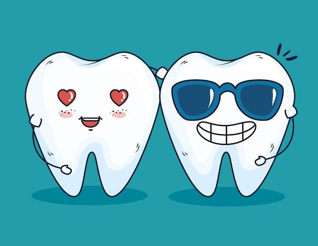Tratamiento sanitario de los dientes con medicina profesional.