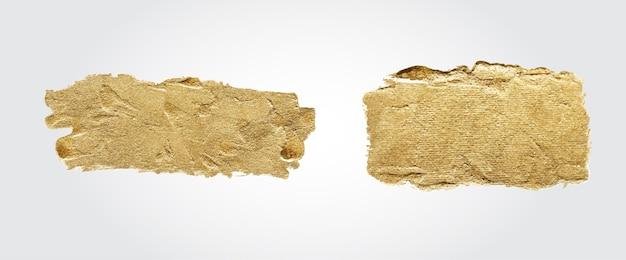 Trazo de conjunto de pincel dorado hecho a mano