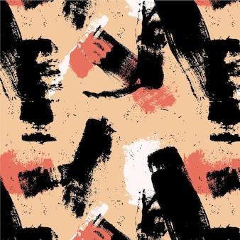 Trazo de pincel abstracto tonos neutros patrón de pintura