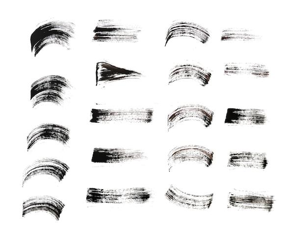 Trazo de pincel dibujado a mano en varios diseños de estilo