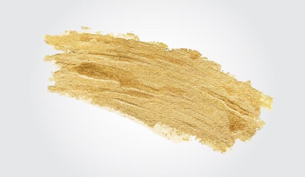 Trazo de pincel dorado hecho a mano