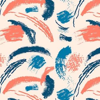 Trazo de pincel pintura patrón abstracto