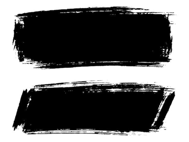 Trazos dibujados a mano negro abstracto