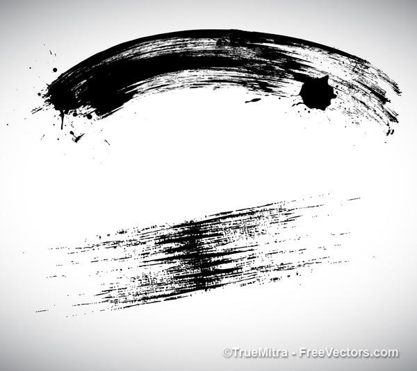 Trazos negros sobre fondo blanco