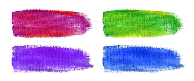 Trazos de pincel de acuarela de colores