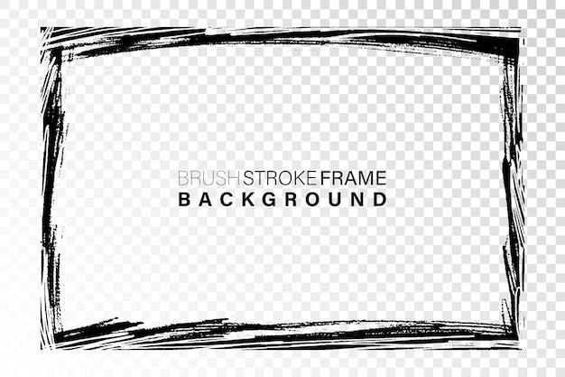 Trazos de pintura negra en forma rectangular.