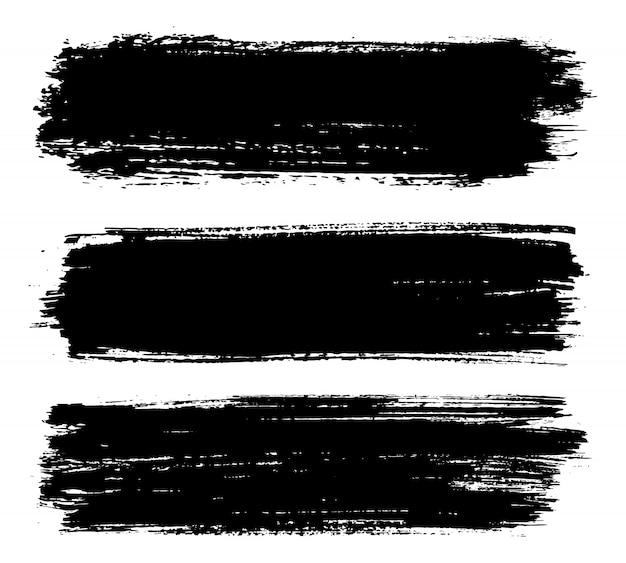Trazos de pintura negra de grunge