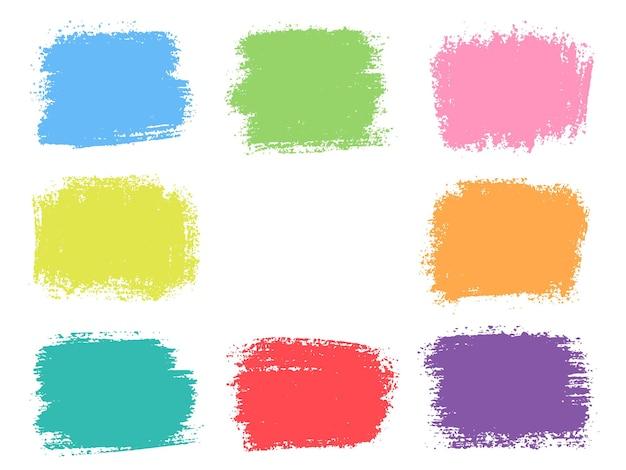 Trazos de trazo de pincel colorido abstracto