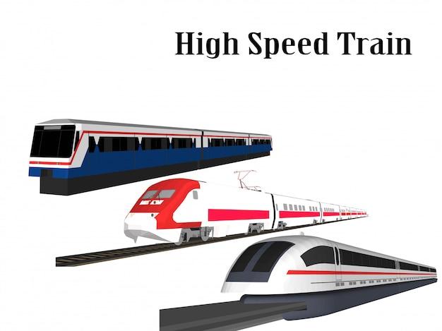Tren de alta velocidad y tren eléctrico.
