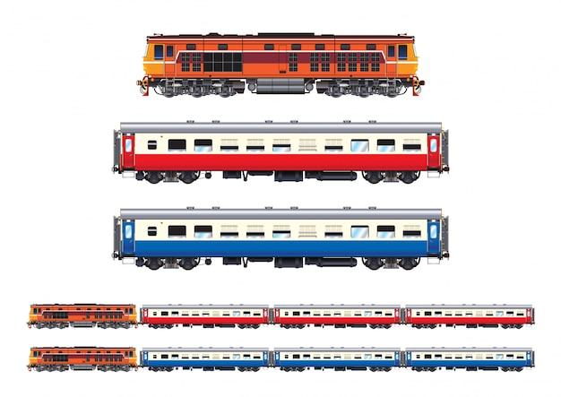 Tren conjunto pasajero