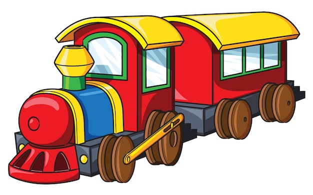 Tren lindo dibujos animados