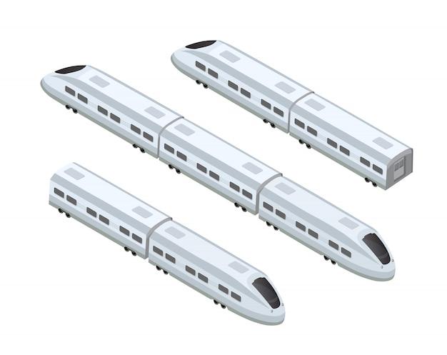 Tren rápido de alta velocidad moderno