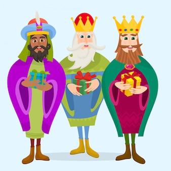 Los tres magos en navidad