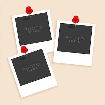 Tres marcos de fotos de estilo antiguo
