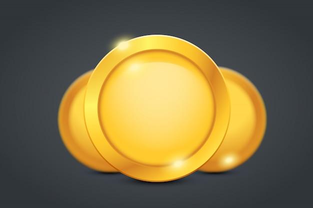 Tres monedas de oro