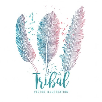 Tres plumas tribales
