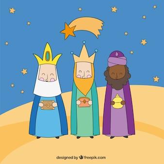 Tres reyes magos por la noche
