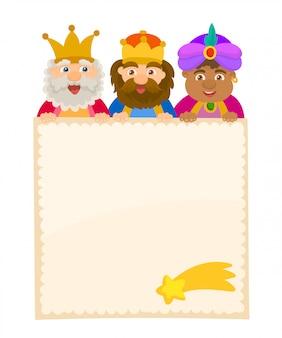 Los tres reyes de oriente, papel de carta