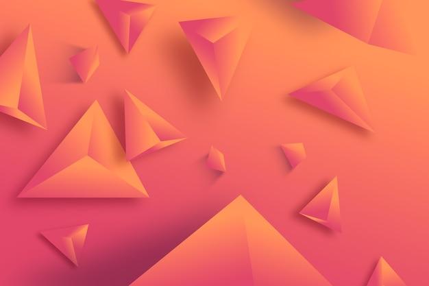 Triángulo 3d fondo monocromático vívido color