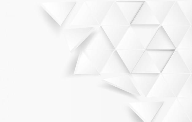 Triángulo abstrac fondo blanco en papel
