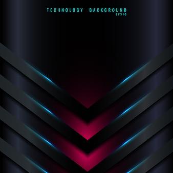 El triángulo abstracto de la flecha azul 3d forma capas