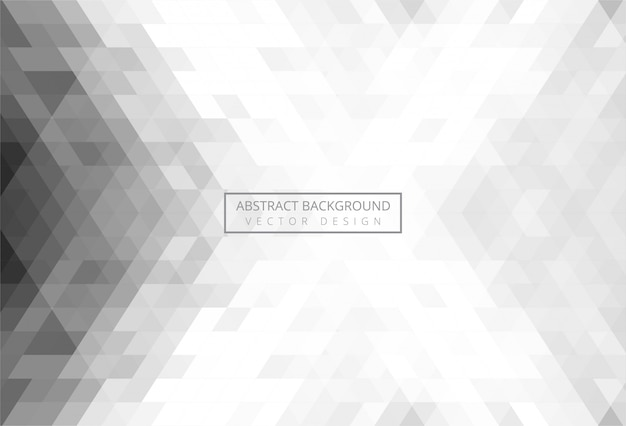 Triángulo abstracto patrón gris