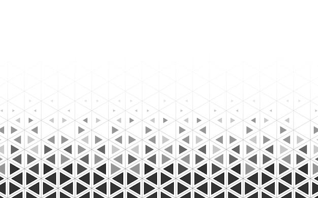 Triángulo gris estampado sobre fondo blanco