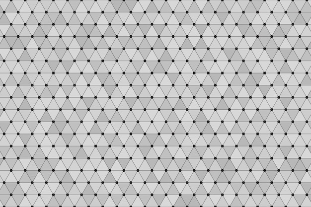 Triángulo poligonal de fondo gris con punto negro