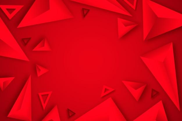 Triángulo rojo fondo diseño 3d