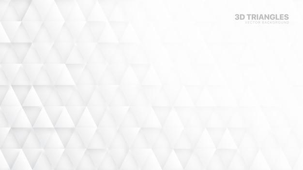 Triángulos 3d fondo abstracto blanco