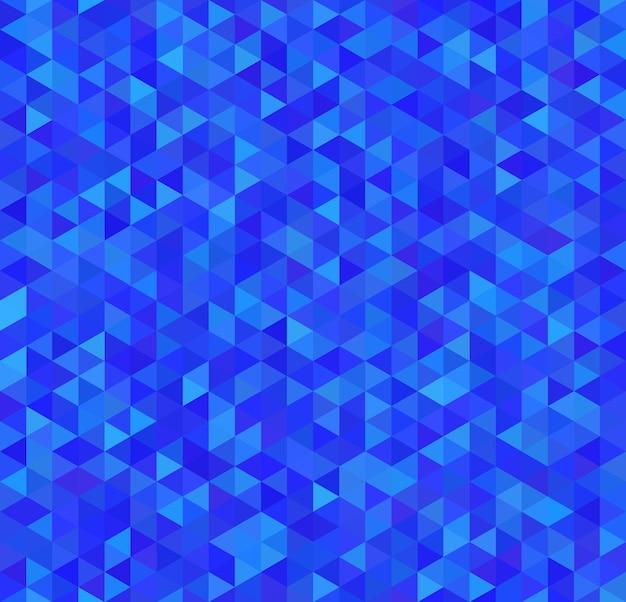 Triángulos azules brillantes, patrones sin fisuras