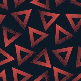Triángulos punteados moda repetitiva abstracta de patrones sin fisuras