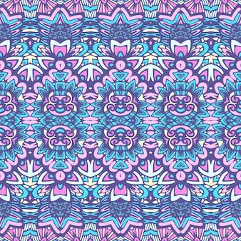 Tribal, vendimia, extracto, geométrico, vector, étnico, seamless, patrón, ornamenta
