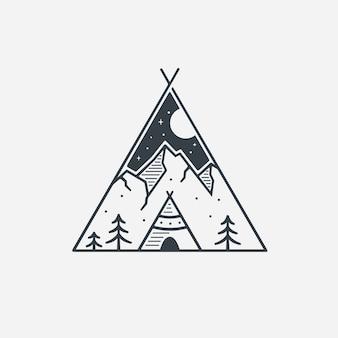 Tribe line art logo inspiración