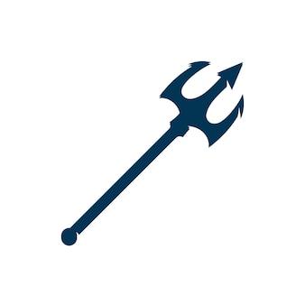 Tridente vector logo icono ilustración signo símbolo