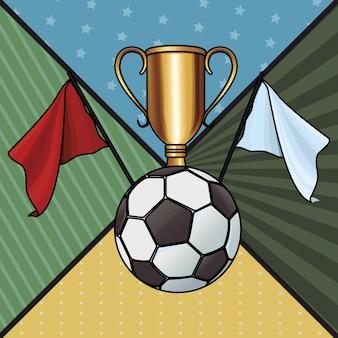 Trofeo con balón de futbol
