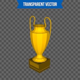 Trofeo de la copa isométrica plantilla de estilo 3d.