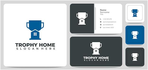 Trofeo de diseño de logotipo de casa