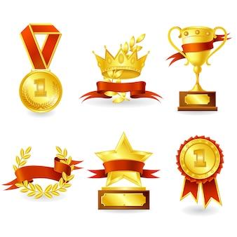 Trofeo y emblema del premio.