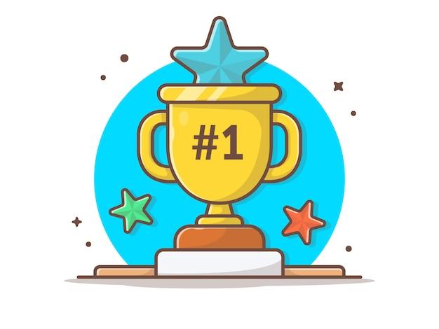 Trofeo con estrellas
