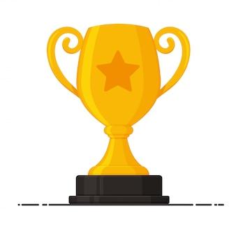 Trofeo de oro con la placa del ganador del concurso.